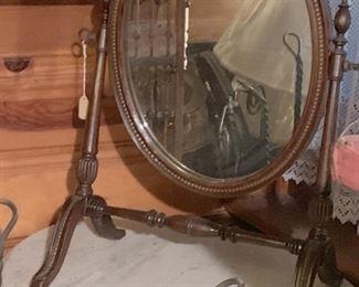 Dresser top victorian mirror