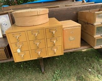 Oak file cabinets