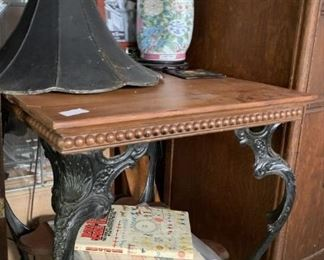 Table with metal victorian legs