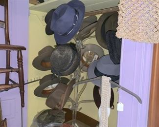Loads of hats and hat boxes