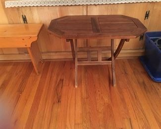 Small folding side table or plant stand