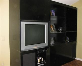 Custom made wall unit is available