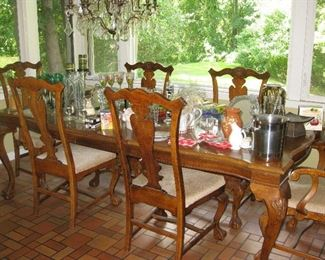 Country French dining room set
