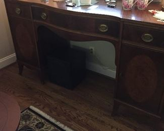 BUFFET WITH INLAID DOORS  - VARIOUS        COLLECTIBLES