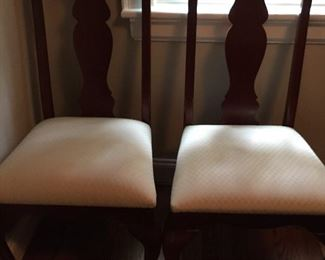 2 OF TEN UPHOLSTERED DINNING CHAIRS