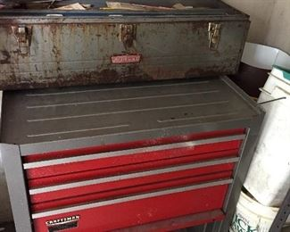 2 CRAFTSMAN TOOL BOXES W/ TOOLS