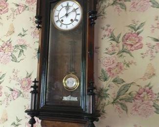 Antique German wall clock