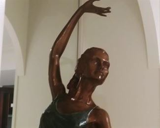 """Ballerina Bronze Sculpture"" Artist Proof Javier Villarreal Sculpture Bronze With Green Patina $2,000.00 OUR PRICE-online these run $2,900 to $4,000."