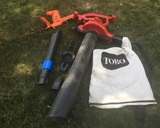 "Toro Blower Vac and Black & Decker 16"" Trimmer"