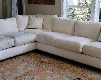 White Stanton sectional sofa