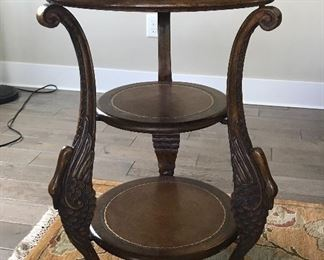 Round, decorative side table