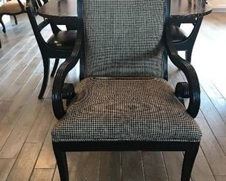 "One of two ""Councill"" New Orleans dining arm chairs"