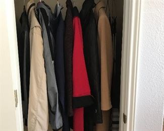 Coat closet, Under Armour and Chaps to name a couple
