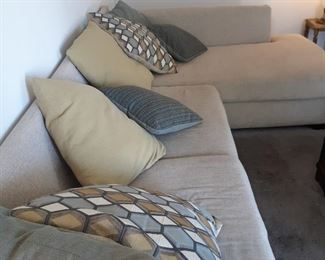 Modern Sectional sofa and cushions..great condition and comfort