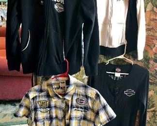 Authentic HARLEY DAVIDSON Embroidered Shirts from VOO-DOO New Orleans HD & Thunder Creek HD, Ladie's  2XL & XL