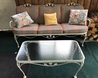 Wrong Iron Bench sofa Seat and Coffee Table