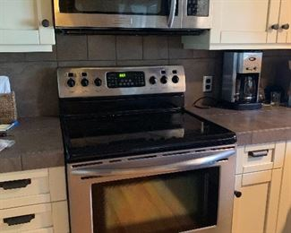 Stainless steel Microwave and Electric Stove are for sale too!