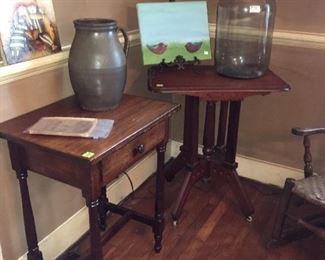 One drawer stand and Eastlake table