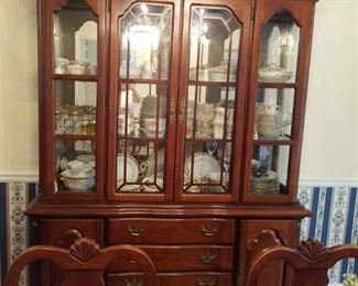Front view china cabinet