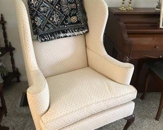 2 matching wingback chairs
