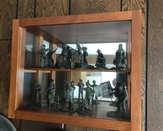 Vintage Franklin Mint pewter collectible figurines