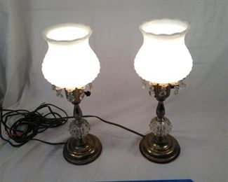 milk glass style lamps