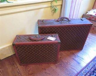 Louis Vittion vintage luggage.