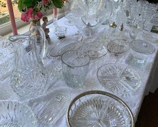 LOTS of beautiful crystal, cut glass, pressed glass and more