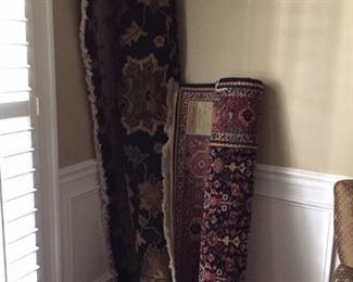 runner and large beautiful rug