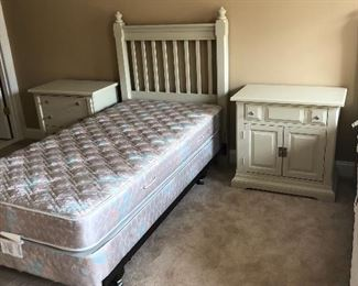 Twin bed and nightstand