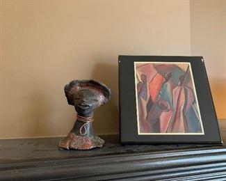 Raku Pottery Figures by Lester Jones