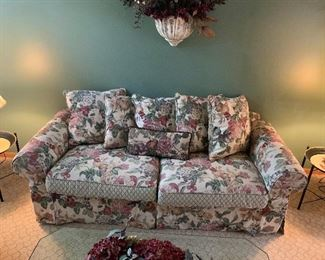 International Furniture Floral Pattern Couch