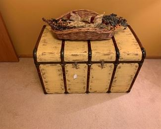 Antique Re-purposed SteamerTrunk