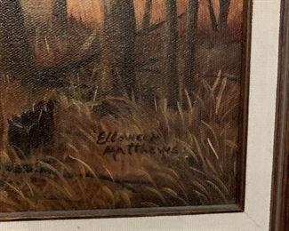 Original Black Americana Painting by Elloween Matthews