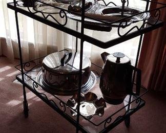 Metal tea cart