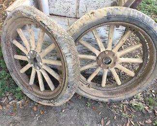 Old Model T tires.