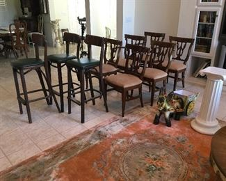 Fabulous bar chairs and dining chairs