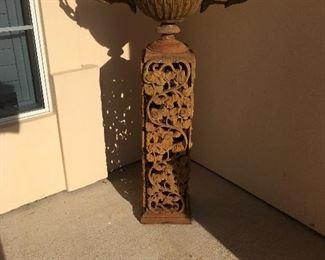 iron garden urn (have a pair)