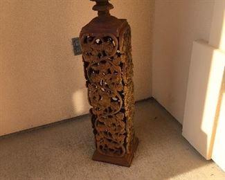 Iron garden urn (pair)