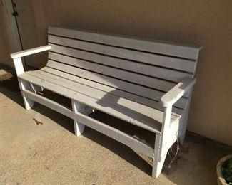 white bench (pair)