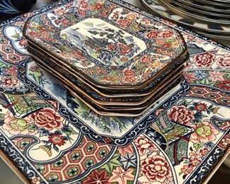 Spectacular dessert platter and matching plates