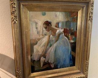 "Vasili Ivanovich Bratanuk (b. 1964) ""After a Rehearsal"" oil on canvas"