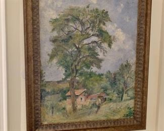 F. Ragot Impressionist Country Scene - oil on Canvas