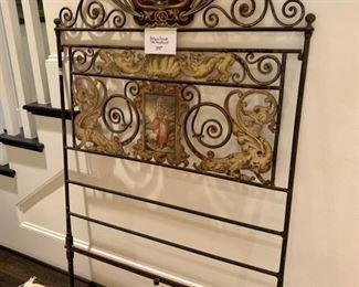 Antique French Tole Headboard
