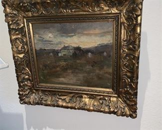 H. R. Lewis - Scenic oil on canvas
