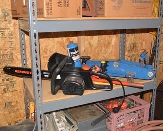 Remington Electric Chainsaw, Hydraulic Floor Jack, etc.