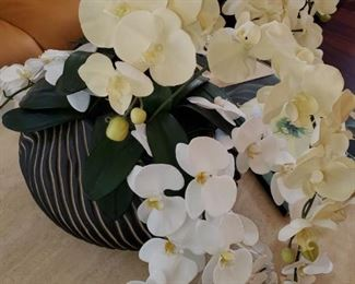 gorgeous orchid centerpiece in amazing bowl