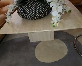 Italian marble coffee table-perfect size too