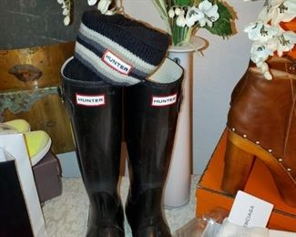 Hunter boots like new size 6