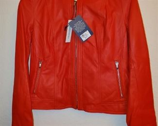 NEW...$698 Cole Hahn Italian Leather Jacket (our price MUCH FRIENDLIER!)
